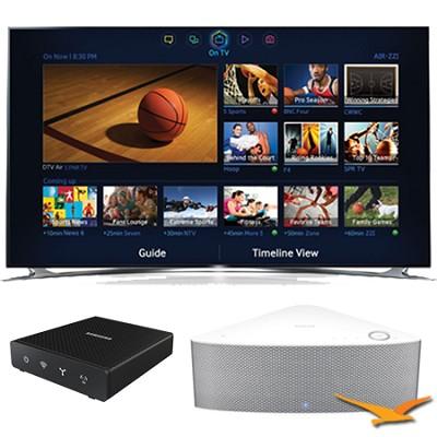 UN65F8000 - 65` 1080p 240hz 3D Smart LED HDTV with SHAPE Audio Bundle - White