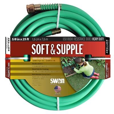25' Swan Soft and Supple Rubber Garden Hose - CSNSS58025