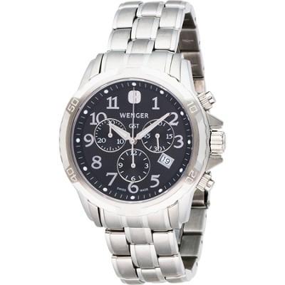 Men's GST Chrono Watch - Black Dial/Stainless Steel Bracelet