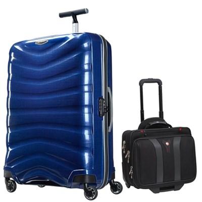 30` Black Label Firelite Spinner (Deep Blue) + Wenger Laptop Boarding Bag