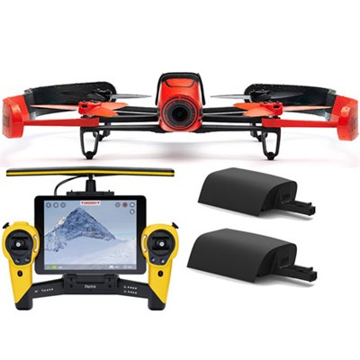 BeBop Drone 14 MP 1080p Fisheye Camera w/ Skycontroller + Battery (Red/Yellow)