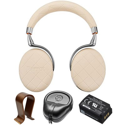 Zik 3 Wireless Noise Cancelling Bluetooth Headphones Ivory w/Stand Bundle
