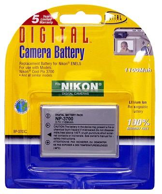 EN-EL5 1100mAh Lithium Battery for Coolpix P3, P4, P500, S10 and similar