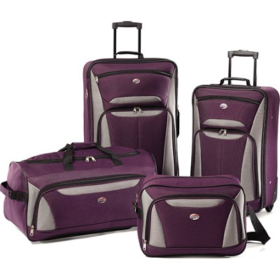 Fieldbrook II Four-Piece Luggage Set (Purple/Grey)
