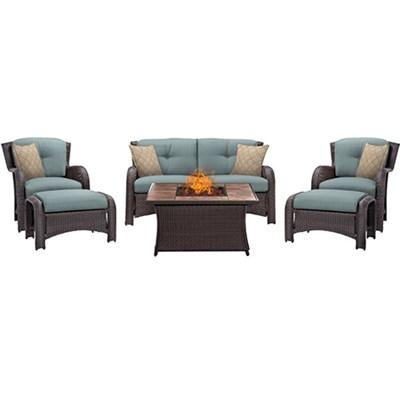 Strathmere 6-Piece Lounge Set in Ocean Blue - STRATH6PCFP-BLU-TN