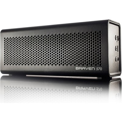570 Portable Bluetooth Speaker, Speakerphone, and Charger (Black) BZ570BBP