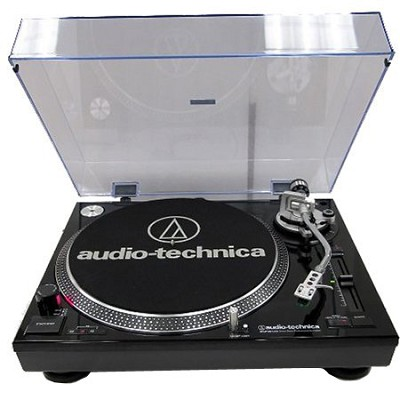 AT-LP120-USB Direct Drive Professional Stereo Black Turntable w/ USB LP & Analog