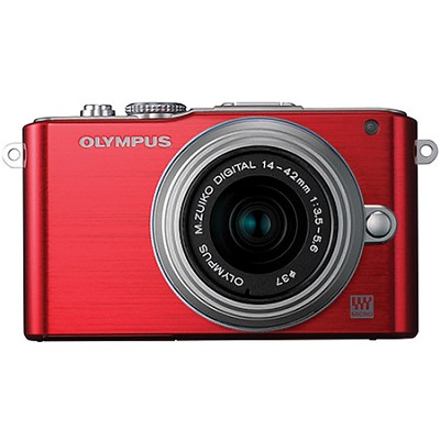 E-PL3 Red PEN Camera w/14-42mm Lens
