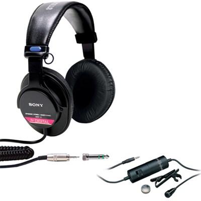 Studio Monitor Headphones w/ CCAW Voice Coil MDR-V6 w/ Audio-Technica Microphone