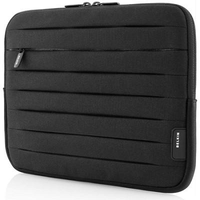 Pleated Neoprene Sleeve for ALL Tablets & Apple iPad 1, 2, & 3 (Black) F8N277tt