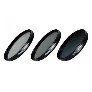3-Piece Filter Kit 49mm for Digital Camera/Video UV/CPL/ND8