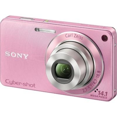 Cyber-shot DSC-W350 14.1 MP Digital Camera (Pink) - REFURBISHED