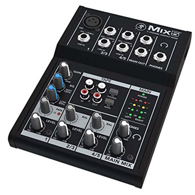 Mix5 5-Channel Compact Analog Mixer
