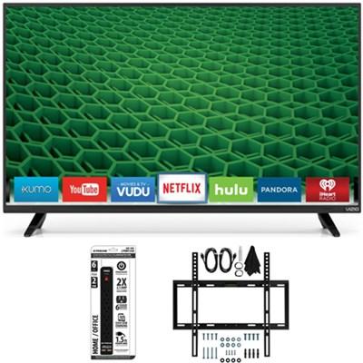 D32-D1 32-Inch Full-Array Full HD LED Smart TV Slim Flat Wall Mount Bundle