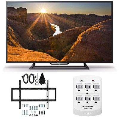 KDL-40R510C - 40-Inch Full HD 1080p Smart LED TV Slim Flat Wall Mount Bundle