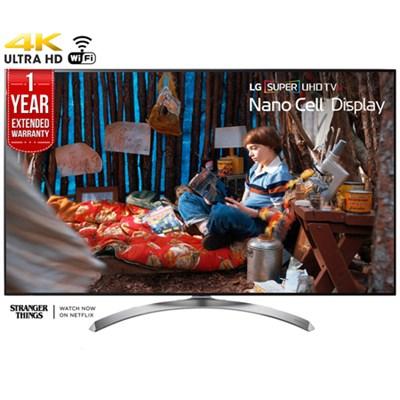SUPER UHD 55` 4K HDR Smart LED TV (2017) + 1 Year Extended Warranty- Refurbished