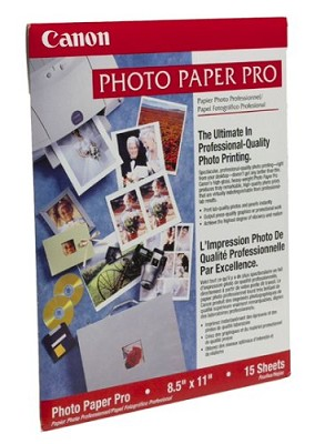 Pro Photo Paper 8.5` X 11` - 15 Sheets