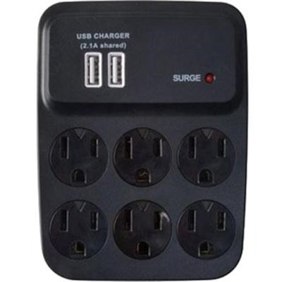 USB Charger 6-Outlet Surge Protector with Built-in Cradle - 0410527821