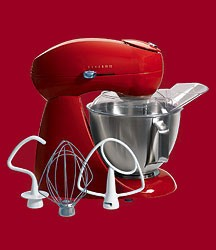 Kitchenscaping Eclectrics All-Metal Stand Mixer - Moroccan Red