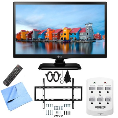 28LF4520 - 28-Inch HD 720p 60Hz LED TV Mount & Hook-Up Bundle