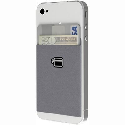 Ultra-Slim Wallet Compatible with all Smartphones (Steel Gray)
