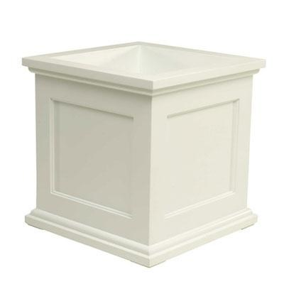 Madison 18` Square Planter in White - 18182