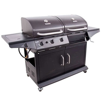 Combination Charcoal Grill and Gas Grill with Side Burner - OPEN BOX