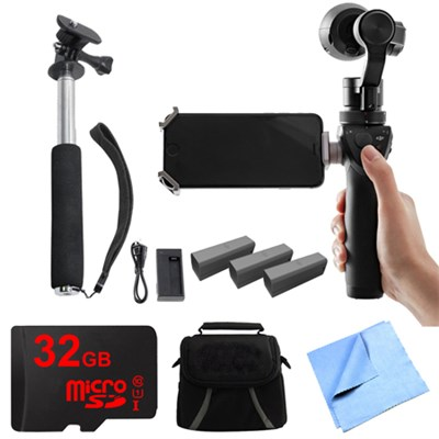 Osmo Handheld 4K Camera and 3-Axis Gimbal Professional Kit With 3 Batteries