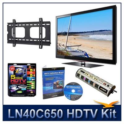 LN40C650 - 40` HDTV + Hook-up Kit + Power Protection + Calibration + Flat Mount