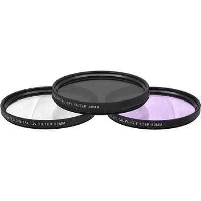 62mm UV, Polarizer & FLD Deluxe Filter kit (set of 3 + carrying case)
