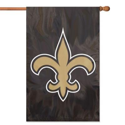 NO Saints Applique Banner Flag