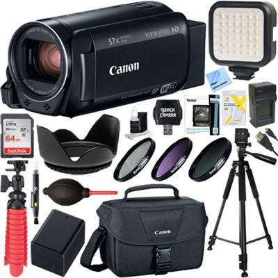 VIXIA HF R80 Full HD CMOS 57x Zoom Camcorder + 64GB Deluxe Accessory Bundle