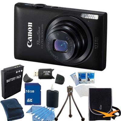 PowerShot ELPH 300 HS Black Digital Camera 16GB Bundle