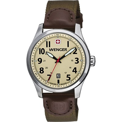 Men's Terragraph Watch - Sand Dial/Brown Olive Nylon Strap