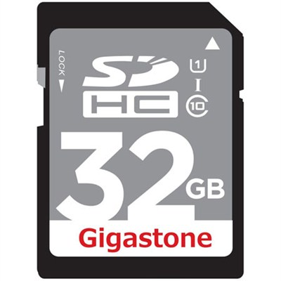 32GB Class 10 UHS-1 SDHC Memory Card Up to 45MB/s (GS-SDHCU132G-R)