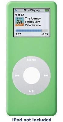 Protective silicone skin for iPod nano (Green) w/ Armband