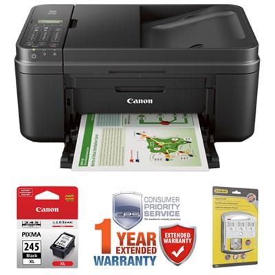 PIXMA MX492 WiFi All-In-One Inkjet Printer w/ Canon Black Ink Bundle