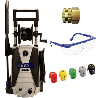 1,800 PSI 1.3 GPM 14 Amp Electric Pressure Washer w/Hose Deluxe Accessory Bundle