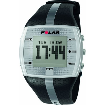 FT7  Heart Rate Monitor Watch - Black/Silver