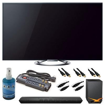 KDL-55W900A 55` Motionflow XR 960 LED Internet HDTV and Sound Bar Bundle