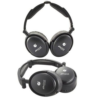 Musicians Choice Foldable Active Noise Canceling Headphones Black 2 Pack