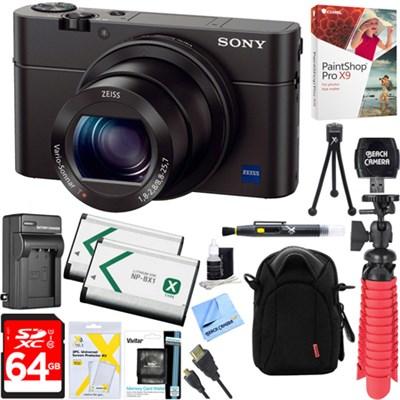 Cybershot RX100 III 20.2MP Digital Camera + 64GB Dual Battery Accessory Kit