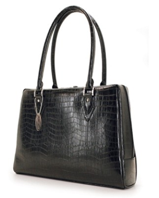 MEMC1S Milano handbag faux-croc black computer case for Laptops up to 15.4`