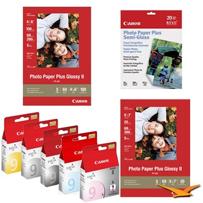Pro 9500 Ink & Paper Kit (4 Ink Cartridges and 3 Packs of Paper)