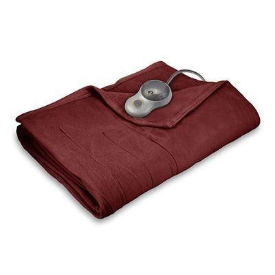 Quilted Fleece Heated Blanket with EasySet Pro Controller, Full (Garnet) BSF9GFS