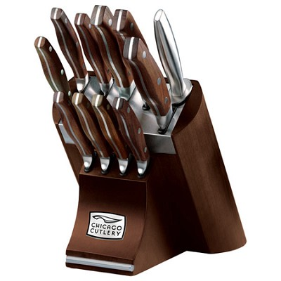Walnut Signature Forged 12-Piece Knife Block Set - 1090389 - OPEN BOX