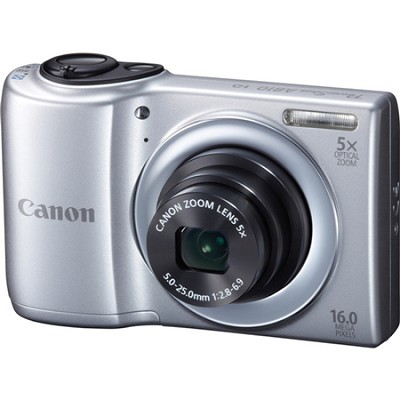 PowerShot A810 16MP Silver Digital Camera w/ 5x Zoom & 720p HD Video