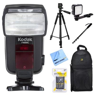 18-180 Power Zoom Flash for Canon E-TTL Cameras w/ Accessories Bundle