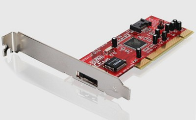 eSATA 1.5Gbps 1Internal + 1External Low-Profile PCI Card - GIC711S