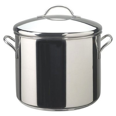Classic Stainless Steel Covered Stockpot - 12-Quart